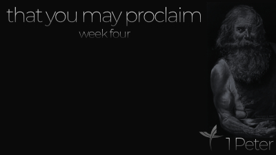 That You May Proclaim: Week Four